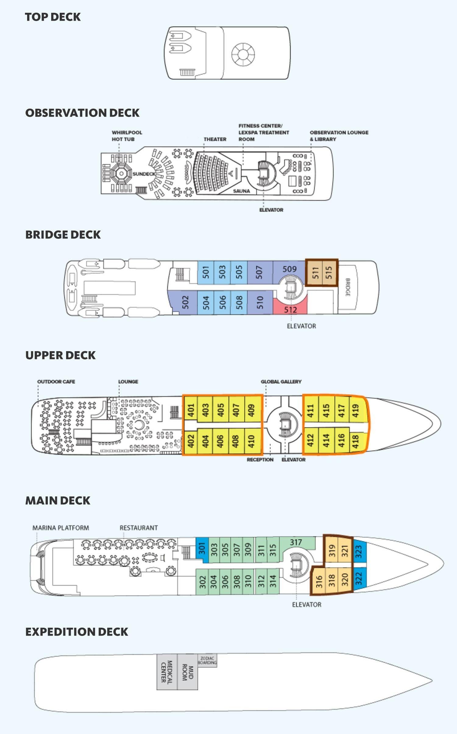 Orion deck plan