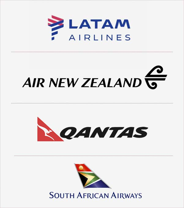 Lan, Air New Zealand, Qantas