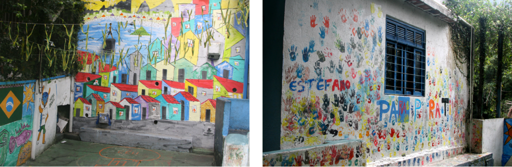 Visiting a school in the favelas