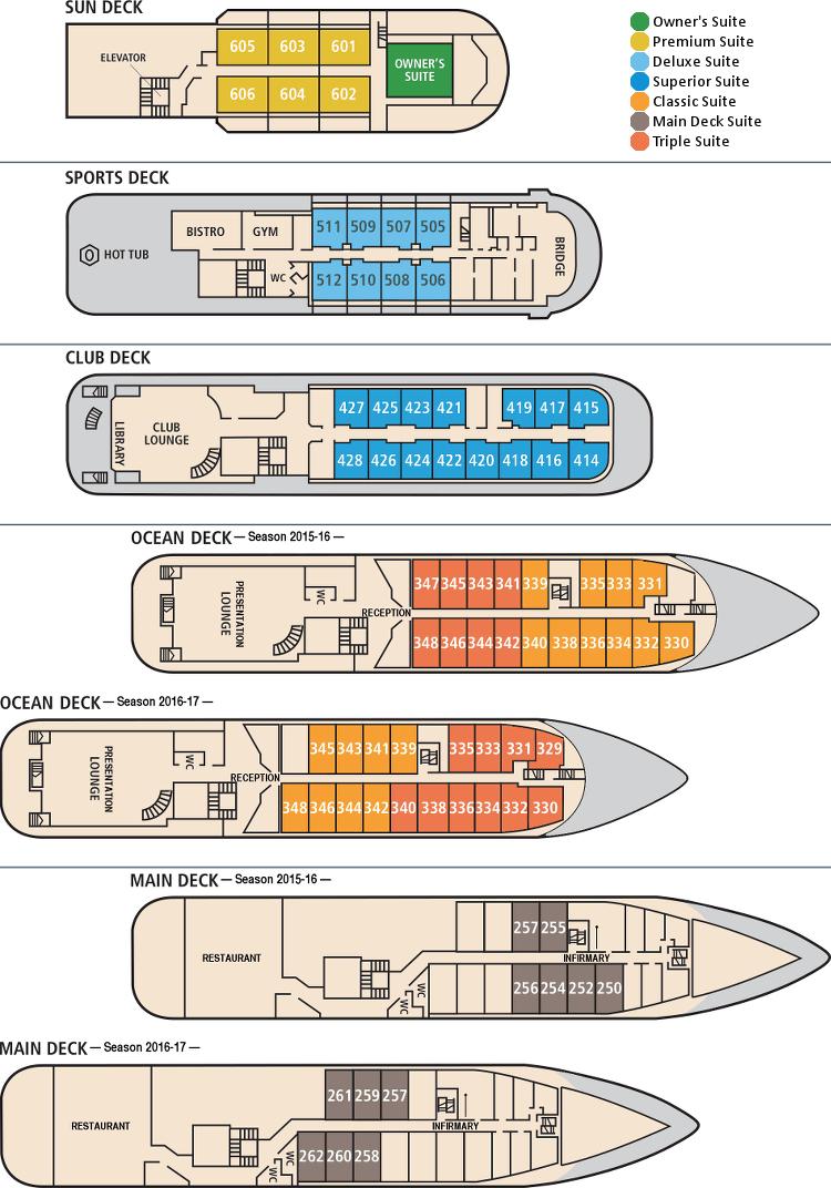 ocean endeavour deck