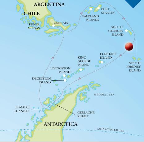 solar eclipse cruise map