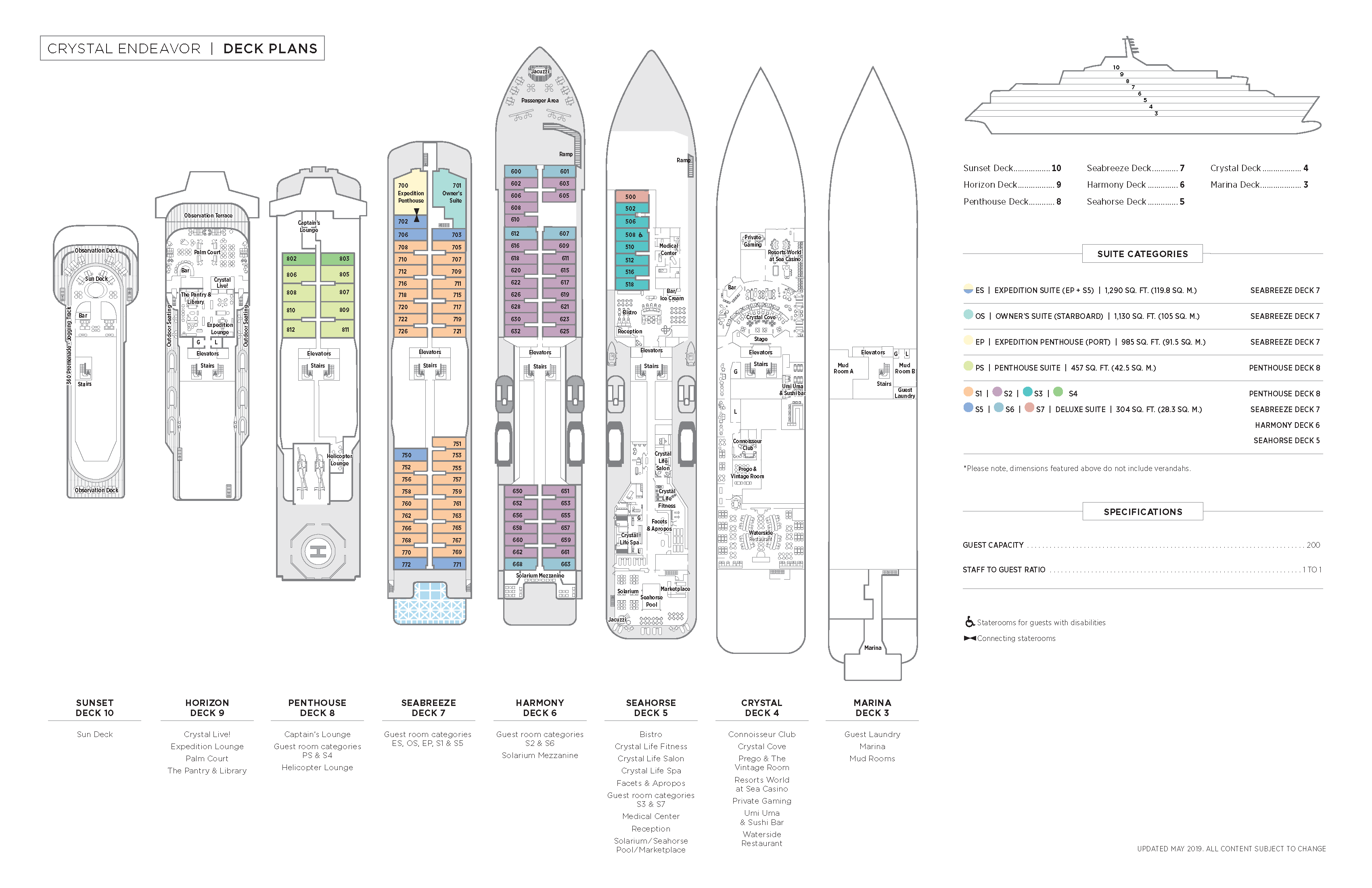 crystal endeavor deck plan